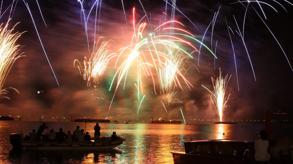 Fireworks from the Grand Canal