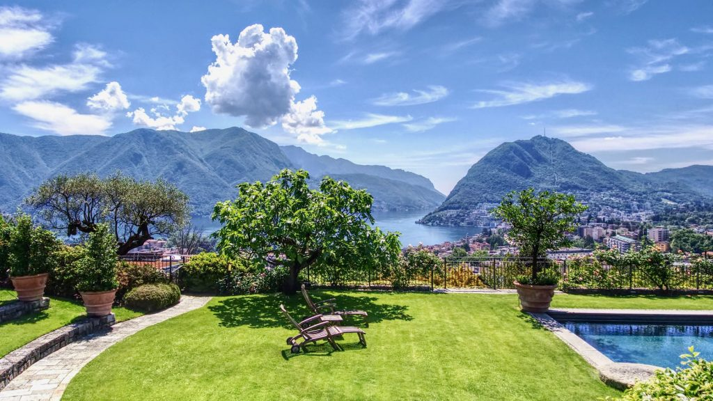Luxury villa for sale to spend summer in Switzerland