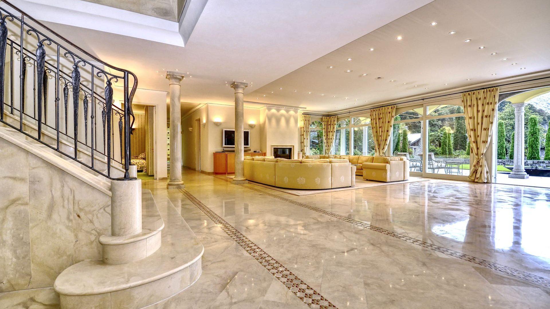 Elegant interior layout of the villa
