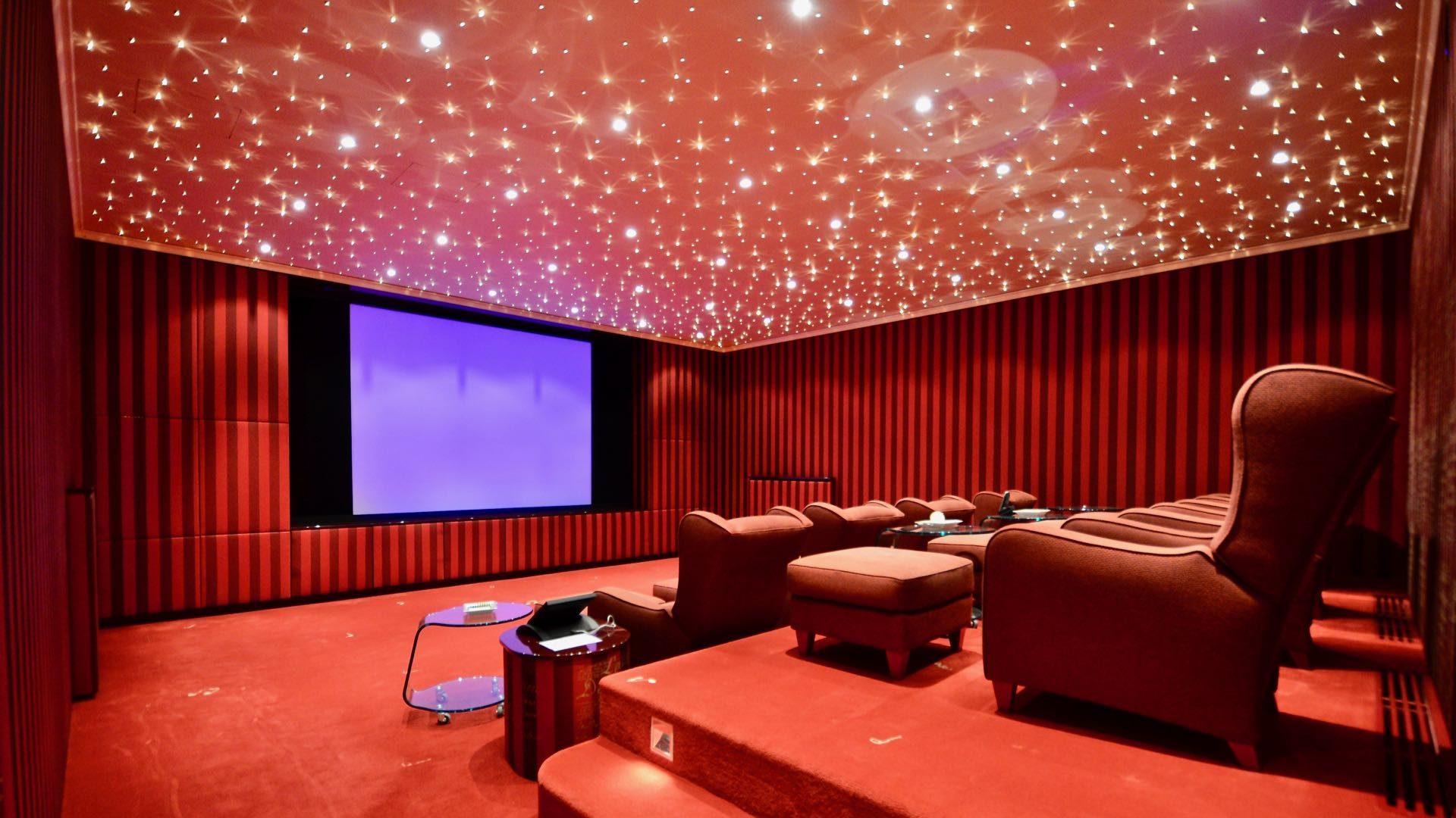 Cinema room of the luxury property