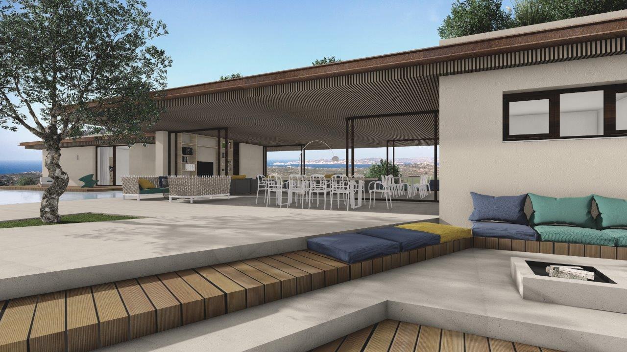Eco-friendly villa project in Santa Teresa Hills, Sardinia