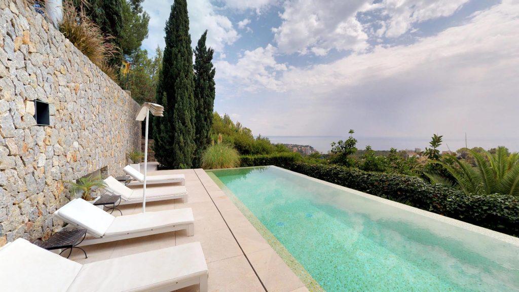 4 luxury villas with sea views for sale in mallorca eren - Piscinas en mallorca ...