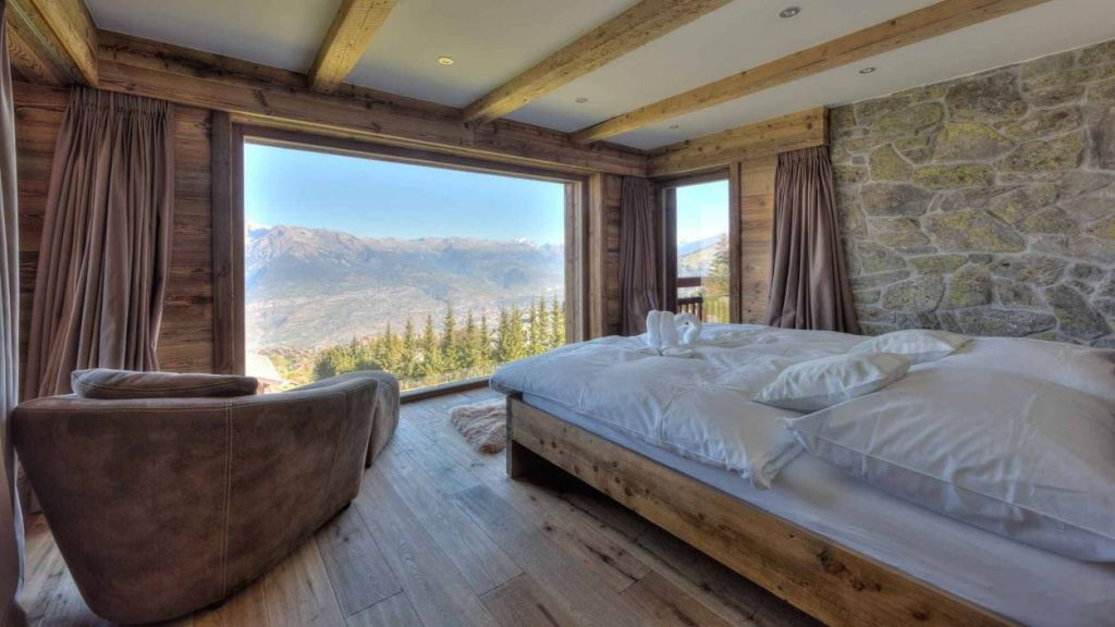 Charming bedroom with impressive views
