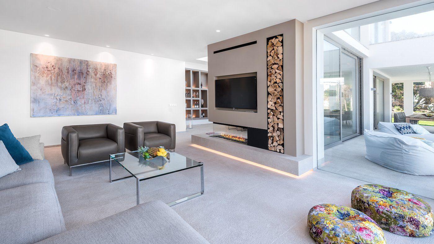 Luxury villa with modern fireplace in Santa Ponsa, Mallorca