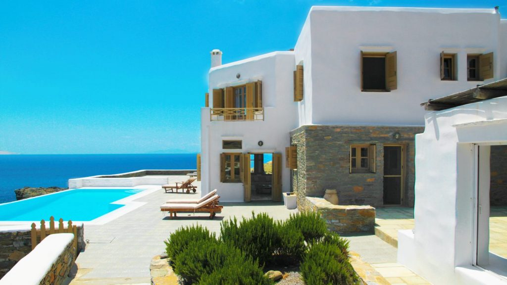 House with pool and sea views for sale in Kythnos, Greek Islands