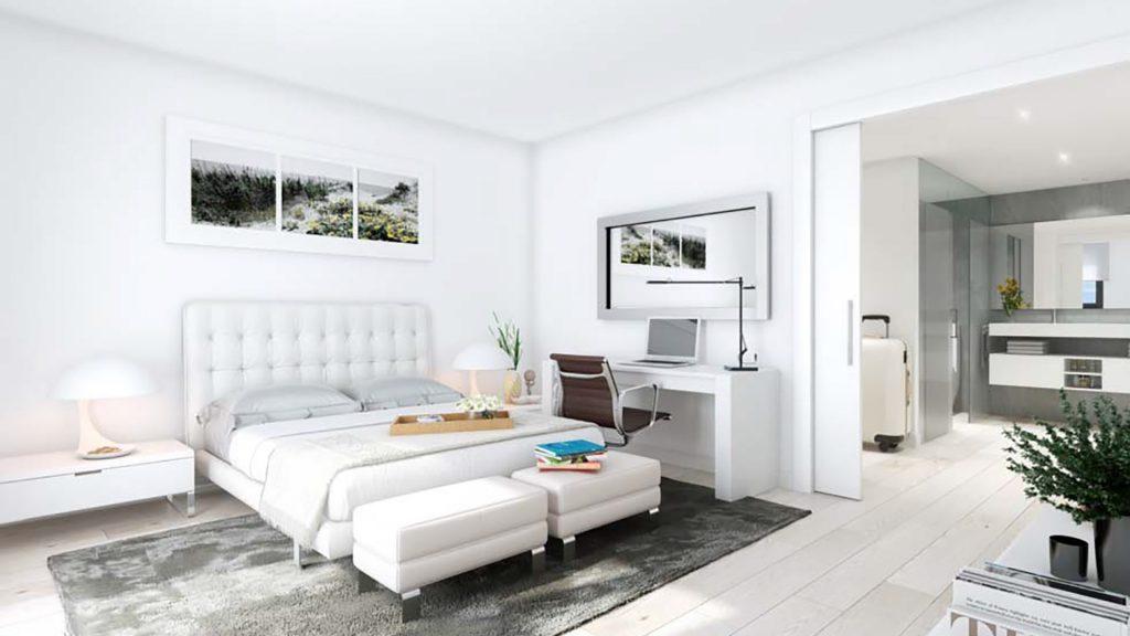 DiagonAlt - bright bedroom with en-suite bathroom