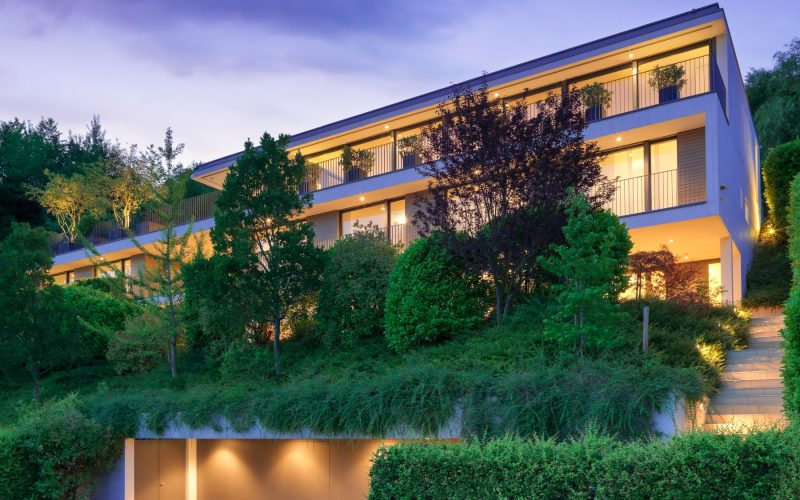 Modern villa nestled in nature