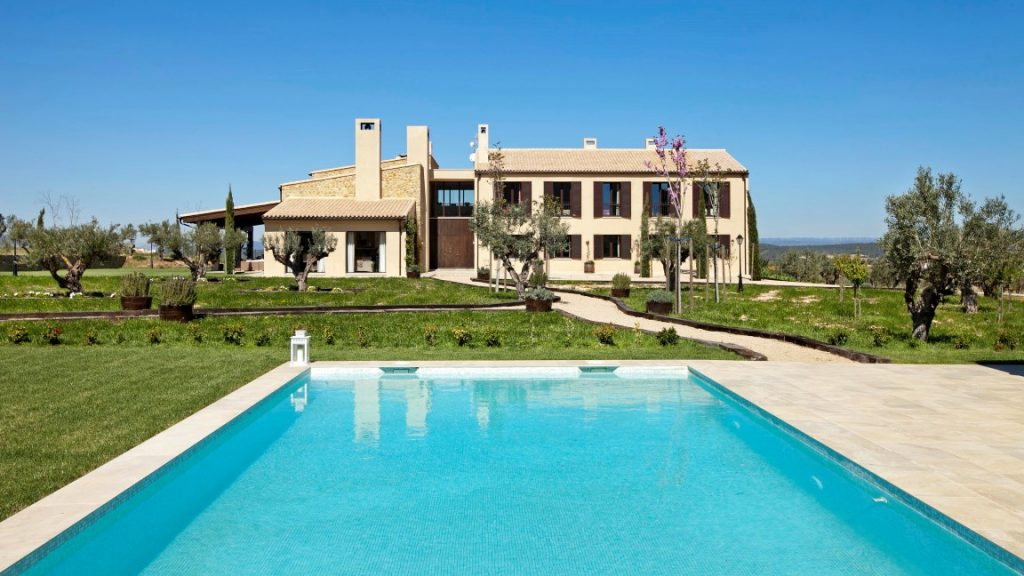 Rural home surrounded by olive groves