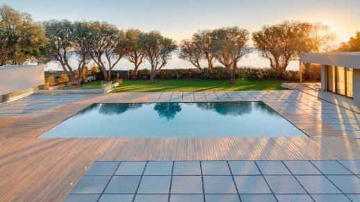 Waterside properties -Swimming pool with sea views