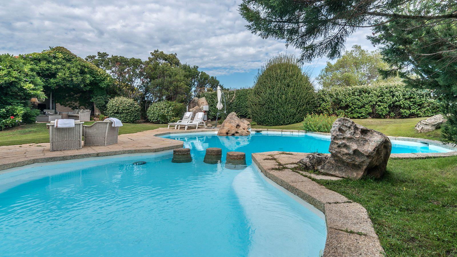 Swimming pool area in Villa Petra Manna