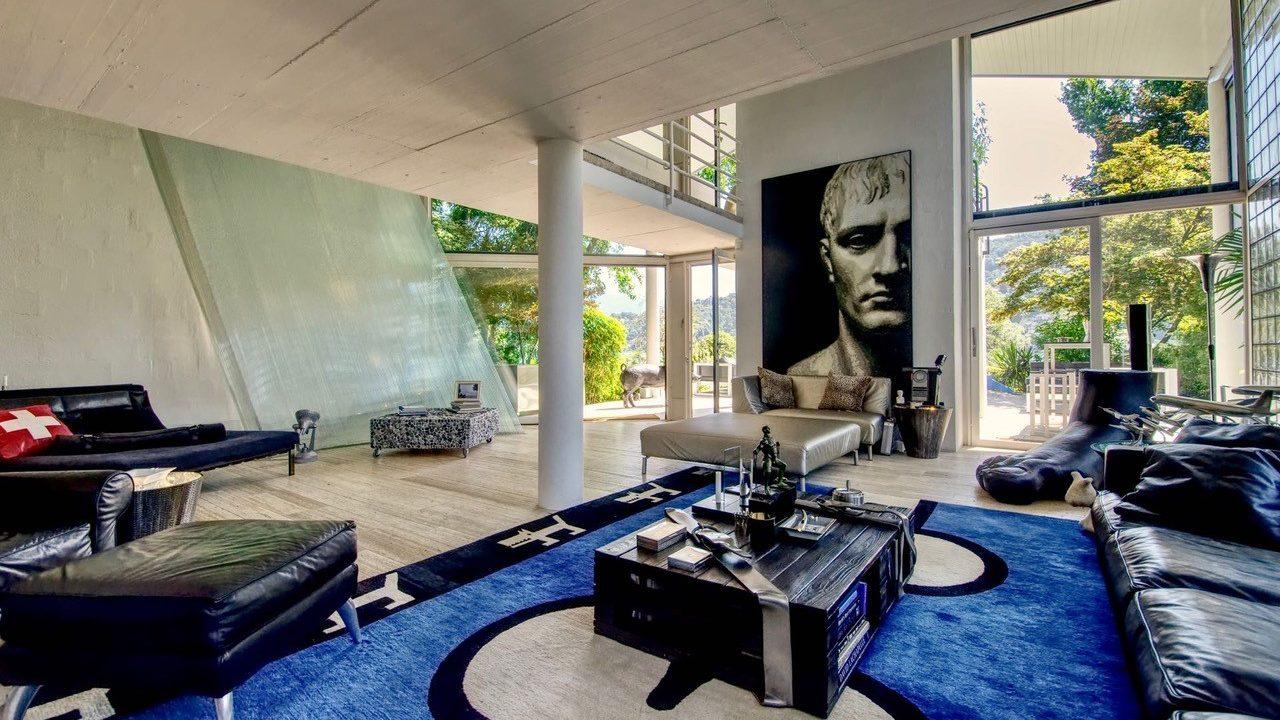 Modern indoor area of the villa