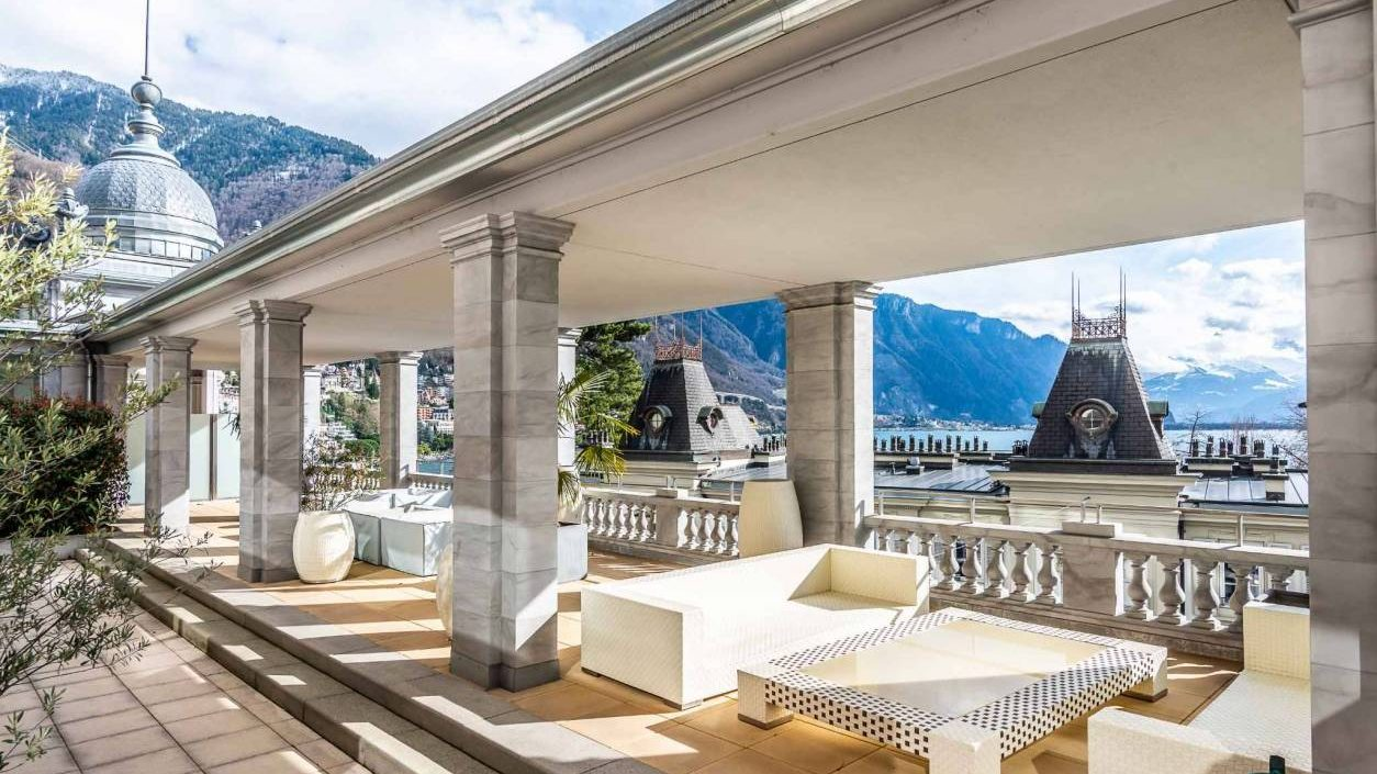 Impressive views from this apartment in Montreux
