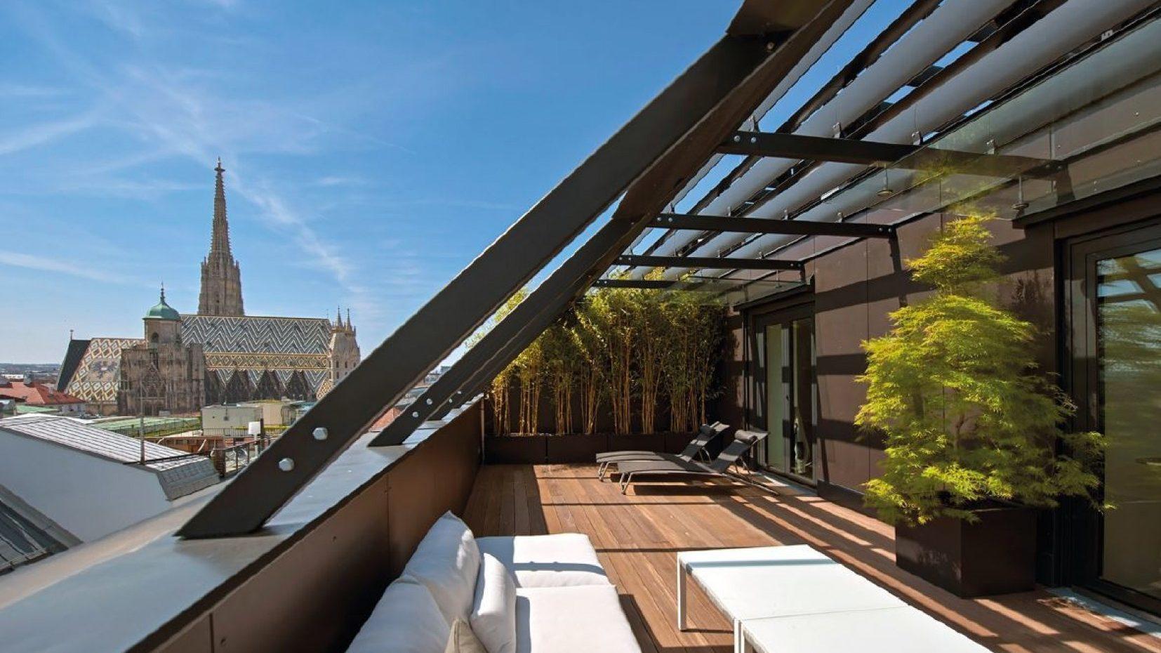 Fantastic terrace offering best views in Vienna