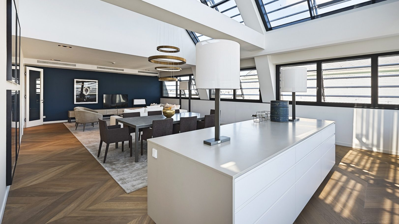 Luxury open plan lounge area