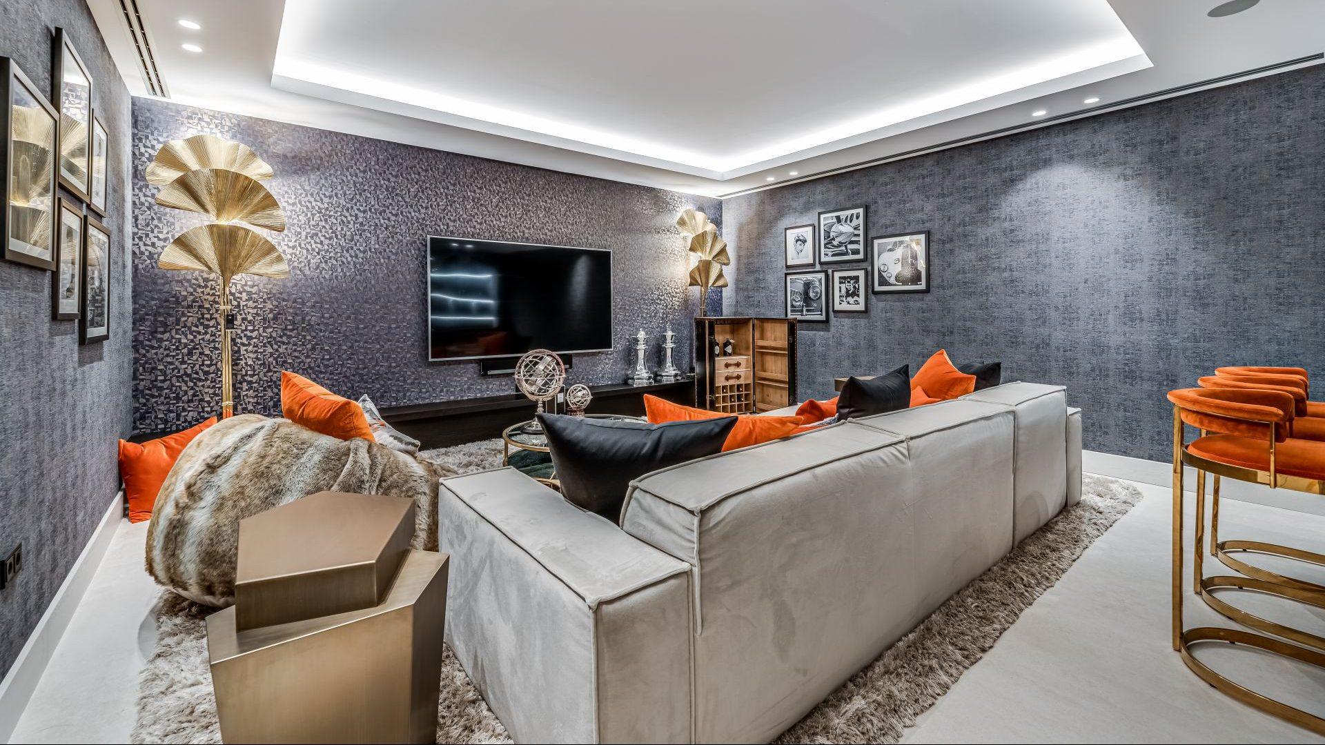 Exclusive cinema room of this luxury villa