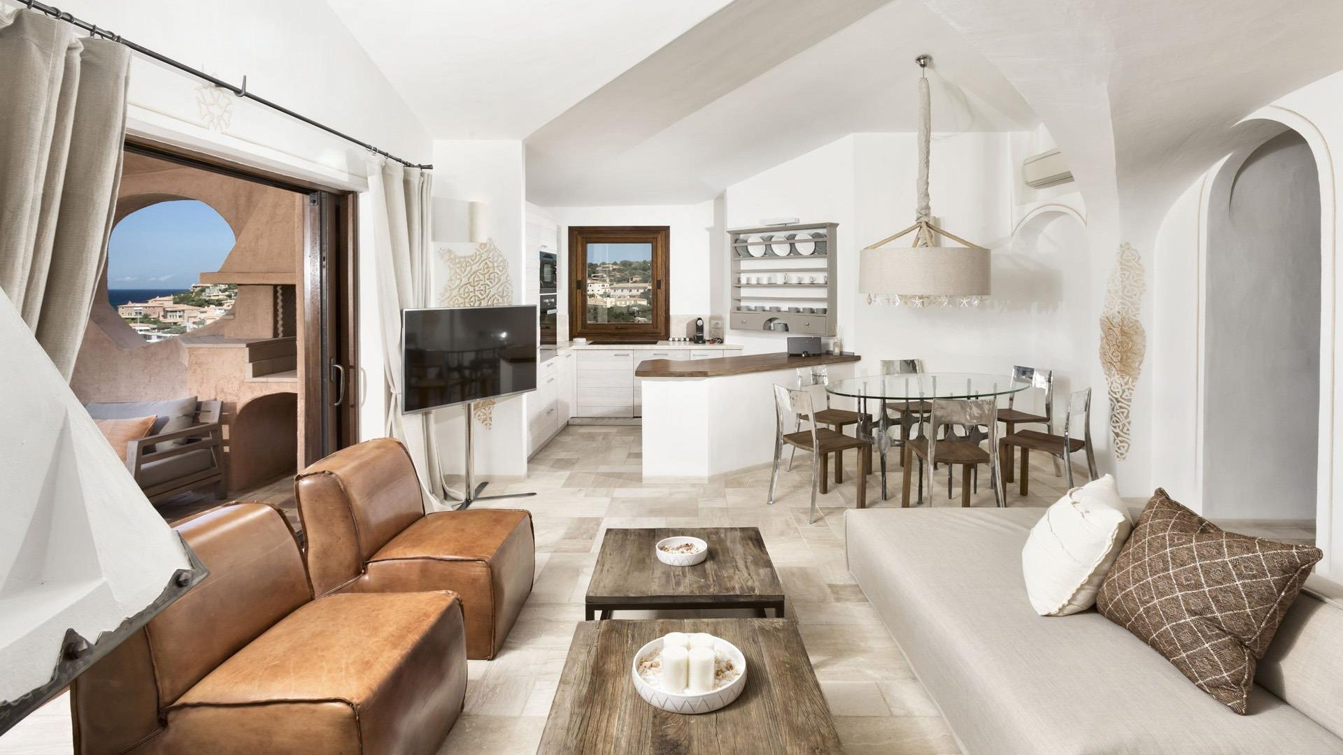 White-washed georgeous living room